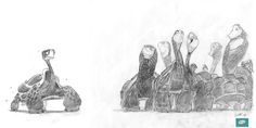 Character Sketches, 2d Character, Character Design, Art Beat, Funny Animals, Turtle, Doodles, Animation, Sky