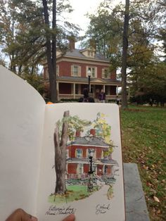 Prash - house portrait - urban sketchers, sketchbook, travel diary, art journal.