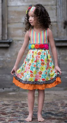 Spring is brighter with Zaza Couture <3  http://heavensentonline.com/collections/frontpage/products/rainbow-flower-dress