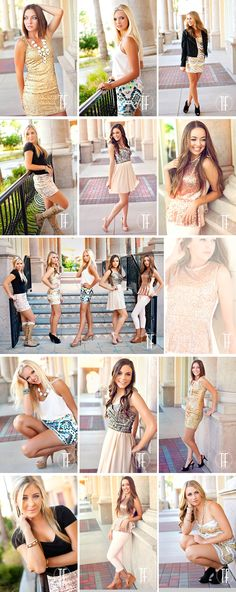 sacramento senior pictures glitter, great poses and I love their outfits!