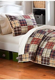 "Home Accents® Pierce Quilt Collection (colors in ""real life"" are more greens and browns, prefect for Hunting/Cabin theme) Purchased this one on sale!"