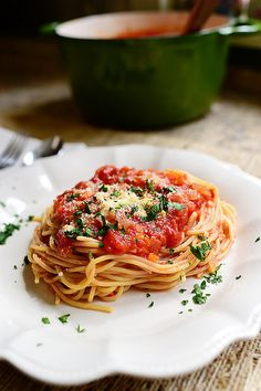 Simple Home Marinara Sauce. One of life's great pleasures!
