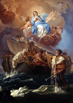 Nicholas Saving the Shipwrecked (Ajaccio) - The Largest Art reproductions Center In Our website. Jesus Christ Images, Jesus Art, Religious Paintings, Religious Art, Rennaissance Art, Jean Antoine Watteau, Christian Artwork, Francisco Goya, Saint Nicolas