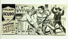 """EsseGesse - original cover """"Capitan Miki"""" The Bar of surprises (1962) - W.B."""