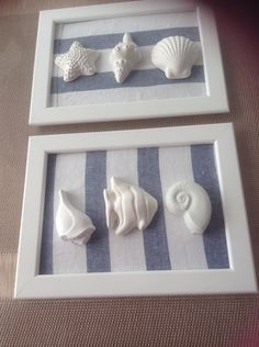 quadretto rivestito in lino con gessetti IN VENDITA HAND MADE Hobbies And Crafts, Diy And Crafts, Arts And Crafts, Beach Souvenirs, Nautical Wreath, Shabby Chic Crafts, Seashell Crafts, Cold Porcelain, Diy Projects To Try