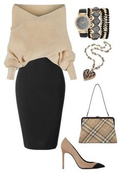 """Untitled #174"" by kimmmyg on Polyvore featuring LE3NO, WithChic, Yves Saint Laurent, Burberry and Jessica Carlyle"