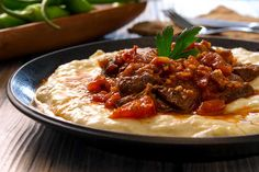 Turkish Hunkar Begendi - a 400-year-old Ottoman royal favorite dish - is a lamb stew served on a bed of smoky eggplant puree.