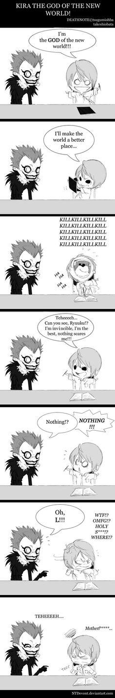 NTDevont, DEATH NOTE, Yagami Raito, Ryuk, Humor Comic, Dead