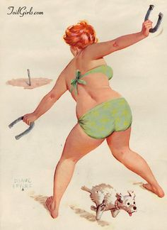I love Hilda! A red-headed, vibrant pin-up girl for forty plus years by artist Duane Bryers, she began her debut in Each painting is unique.Hilda is so… Arte Pin Up, Pin Up Art, Pin Up Girls, Girls Fun, American Calendar, Curvy Pin Up, Calendar Girls, Wow Art, Renoir