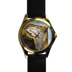 Popular Watch at the Moment of First Explosion By Salvador Dali Unisex -tone Round Leather Metal Watch >>> A special outdoor item just for you. See it now! : Travel Gadgets