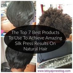 The top 7 best products to use to create the perfect silk press on natural hair