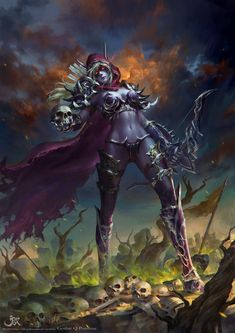 world of warcraft pictures and jokes / funny pictures & best jokes: comics, images, video, humor, gif animation - i lol'd World Of Warcraft, Art Warcraft, Lady Sylvanas, Banshee Queen, Sylvanas Windrunner, War Craft, Heroes Of The Storm, Dark Elf, Illustration