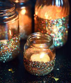 Glitter DIY Fashion - Black Glitter Bedroom - Glitter Hair Part - Glitter Party Props - Pink Glitter Stars - Glitter Jars, Glitter Candles, Diy Candles, Glitter Crafts, Glitter Gif, Glitter Bomb, Glitter Shoes, Pink Glitter, Glitter Party Decorations