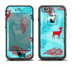 The Blue Fun Colored Deer Vector Apple iPhone 6/6s Plus LifeProof Fre Case Skin Set from DesignSkinz
