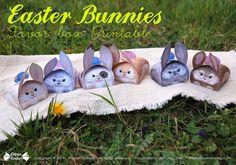 Bunny favor boxes Printable  party centerpiece by PapierBonbon