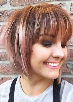 50 Incredible Short Bob Hairstyles Haircuts With Bangs //  #bangs #Haircuts #Hairstyles #incredible #Short