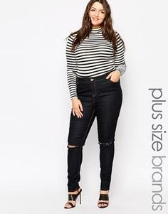 9044d522481 New Look Inspire Skinny Ripped Jean. YsP · Plus size style