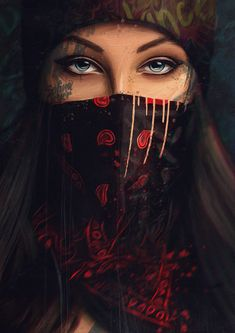 Hidden Wallpaper by - 69 - Free on ZEDGE™ now. Browse millions of popular bandana Wallpapers and Ringtones on Zedge and personalize your phone to suit you. Browse our content now and free your phone Arte Dope, Dope Art, Girl Iphone Wallpaper, Dark Wallpaper, Tattoo Girl Wallpaper, Wallpaper For Girls, Wallpaper Door, Eyes Wallpaper, Dope Wallpapers