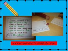 Mrs. Wheeler's First Grade Tidbits: Informative: How-to Writing in the Primary Grades