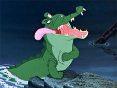 *TICK!  TOCK CROCODILE ~ Peter Pan, 1953 Peter Pan 1953, Peter Pan Movie, Peter Pan Disney, Animation Film, Disney Animation, Peter Pan Crocodile, Peter Pan Neverland, Peter Pan Nursery, Pan Photo