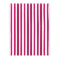 SOFIA Fabric - wide stripe cerise/white - IKEA//floor pillows for tent