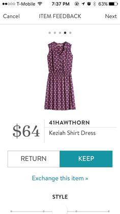Love a good shirt dress!