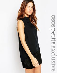 ASOS PETITE Tunic with High Neck and Side Splits