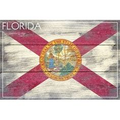 Shop for Rustic Florida State Flag - Lantern Press Artwork (Acrylic Serving Tray). Get free delivery at Overstock.com - Your Online Kitchen & Dining Outlet Store! Get 5% in rewards with Club O! - 20263772