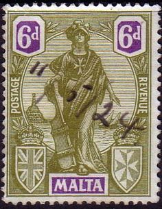 Malta 1922 SG 133 Britannia Fine Used Scott 108 Other European and British Commonwealth Stamps HERE!