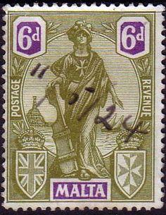 Malta 1922 SG 133 Britannia Fine Used Scott 108 Other Malta Stamps HERE