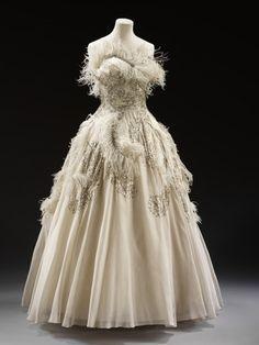 Evening dress, by Pierre Balmain -- High quality art prints, framed prints, canvases -- V Prints