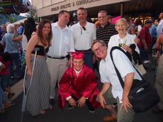 Family gathers around nephew Brad after he graduated from Easton Area High School last week!