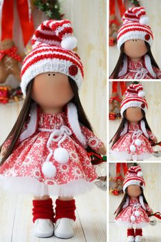 New Year Christmas Doll Fabric Tilda Doll Poupée Annkirillartplace Cloth Rag Doll Muñecas Red Textile Bambole Nursery Winter Doll by Olga S This is handmade cloth doll created by Master Olga S. (Karaganda, Kazakhstan). All dolls stated on the photo are mady by artist Olga S. Doll is 25 cm (9.8 inch) tall and made of only quality materials. Such dolls and toys can be great present for your beloved people. Besides, our dolls perfectly fit home decor and interior decoration: nurser..