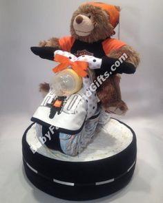 Harley Davidson Diaper Cake Base #harleyboyz #biker #babyshowergifts