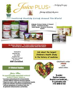 It doesn't get any better than this! My new flyer for Juice Plus tells most the story.