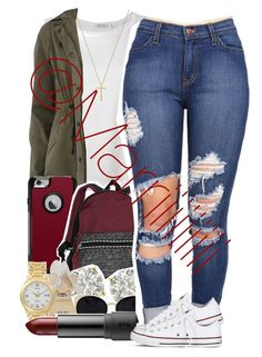 """""""Going to be off of here for a while got in trouble for my grades✌️"""" by trill-forlife ❤ liked on Polyvore featuring Alexander Wang, Gucci, Dorothy Perkins, OtterBox, Victoria's Secret, Auriya, Marc by Marc Jacobs, Piaget, Una-Home and Converse"""