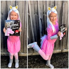 Thelma the Unicorn costume for Book week. Easy Book Week Costumes, Book Costumes, Teacher Costumes, Family Costumes, Baby Halloween Costumes, Halloween Halloween, Vintage Halloween, Halloween Makeup, Costume Ideas