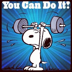 "Snoopy ""YOU CAN DO IT""!"