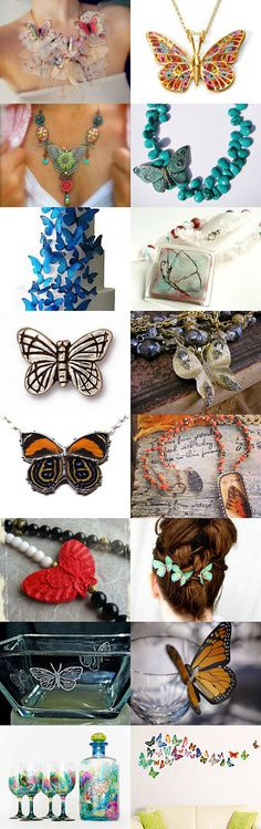 ~butterflies~ by Bekka on Etsy--Pinned with TreasuryPin.com