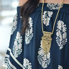 Www.stelladot.com/Angellesteele  Love. The Alila Lace Necklace is the perfect piece for a boho spring and summer. It's also versatile and can be worn long or short. #Stelladot #StelladotStyle #Shopping #Fashion #Accessories #Jewelry #Style #Necklace #FashionTrends #WomensFashion