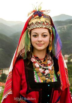 Bulgarian traditional Slavic costumes by region | Slavorum Rhodopean ethnographic region (Central Southern Bulgaria)