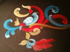 easy rosemaling painting - Google Search