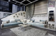 Salons Marocains Archives - Page 6 of 39 - Espace Deco Moroccan Room, Moroccan Interiors, Sofa Design, Floor Design, House Design, Classy Living Room, Luxury Living, Home Interior Design, Living Room Designs