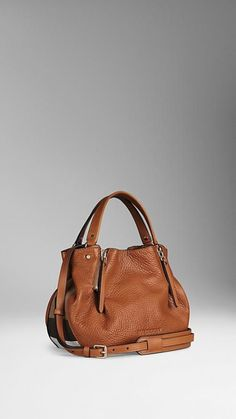 8dcda53fdd5c Shop for Small Check Detail Leather Tote Bag by Burberry at ShopStyle.