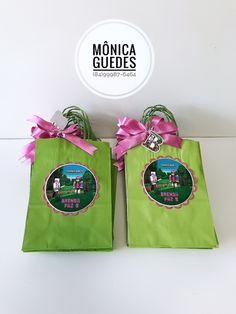 Sacolinhas personalizadas tema Minecraft Rosa