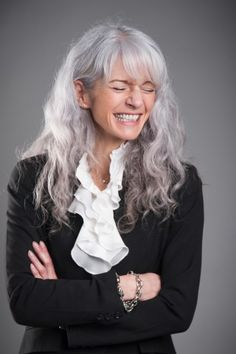 Grey color: I love this photo just for the expression of happiness and joy on her face