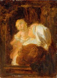 Jean-Honoré Fragonard - Jeune femme et enfant