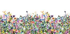 This wild meadow is inspired by stories of journeys – long and dangerous – and by the dream of finding a place to call home at their end. The mix of flowers in this pattern creates a riot of color, and this wallpaper can be used throughout a room to produce a springtime meadow of your very own.