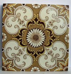 Antique Mintons Ceramic Tile.  I absolutely love this tile and i think it would look great as part of my new kitchen backsplash.#PSdreamkitchen