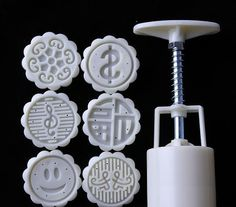moon cake mold 50ground set with 6 stamps by mooncakeshop on Etsy, $21.10